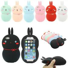 New 3D Cute Rabbit Bunny Soft Silicone Gel Cover Case for Apple iPhone 5 5S 5G