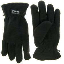 MENS THERMAL INSULATION FLEECE GLOVES LINED WARM WINTER BLACK LADIES THINSULATE