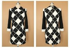 Women's Autumn Peter Pan Collar Black and White Sexy Pencil Dress OL-Style