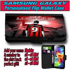 PERSONALISED UNOFFICIAL AC MILAN SAMSUNG GALAXY S 3 4 5 MINI LEATHER CASE
