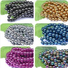 Wholesale Ball BLACK MAGNETIC HEMATITE Spacer BEADS 4MM 6MM 8MM 10MM 12MM