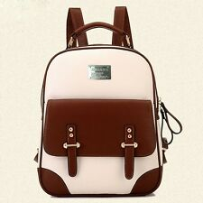ZF0047 Ladies New Faux Leather Vintage Rucksack Backpack Fashion School Bag