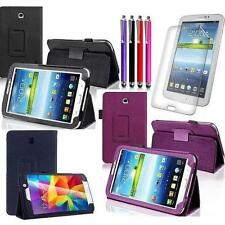 "Leather Folio Stand Case per Samsung Galaxy Tab 3 & 4 (7.0 / 8/10.1 ""Pollici) Tablet Cover"