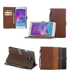 DS Retro Leather Case Stand Card Pocket For Samsung Galaxy Note4 SM-N910F N910V