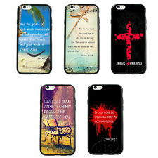 New Faith Bible Verse Quotes TPU Bumper Hard Case for iPhone4 4S 5 5S 5C 6 6Plus