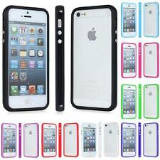 Perfect Fit TPU Hard Gel Silicone Bumper RIM Case Cover For iPhone 5 5S - Choose