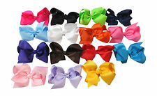 "5.5""  Big Hair Bow Boutique Girls Baby Toddler Alligator Clip Grosgrain Ribbon"
