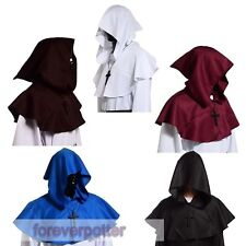 Medieval Hooded Wicca Pagan Cowl Hood 5-color Halloween Fancy Cosplay  Costume