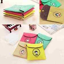 1Pcs Womens Handbags Sanitary Napkins Admission Package Multi-Color Button Bags