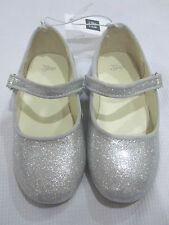 NWT Girls BABY GAP Mary Jane Silver Glitter Patent Ballet Flats Shoes  7 8 9 10