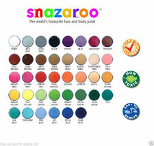18ML SNAZAROO CLASSIC WHITE BLACK FACE BODY PAINT WATER BASED MAKE UP NEW