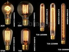 E27 E14 B22 40W/60W Filament Light Bulb Vintage Retro Antique Style Edison Lamp