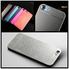 Ultra-thin Slim Brushed Aluminum Metal Skin Case Back Cover for Cellphone