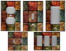 TUSCAN MOSAIC TILE PRINT LIGHT SWITCH PLATE