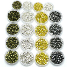 Wholesale Silver Gold Bronze Gunmetal Plated Spacer Beads 2mm 3mm 4mm 5mm 6mm