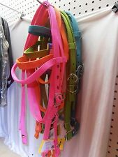 Heavy Duty Nylon Horse Pony Trail Barrel Racing Browband Headstall Bridle Reins