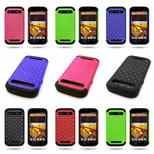 Heavy Duty Hybrid Bright Diamond Sparkle Bling Cover Case for ZTE Warp Sync