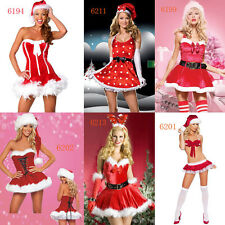 Sexy Women Santa Claus Christmas Costume Cosplay Lady Xmas Outfit Fancy Dress