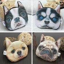 Elegant Animal Dog Face Pattern Coin Change Bag Wallet Handbag Purse Cute Pouch