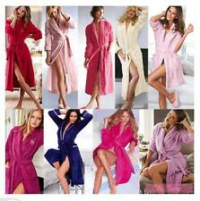 Women Lady Soft Coral Fleece Loose Long Sleepwear Night Robes Bathrobe Spa Shawl