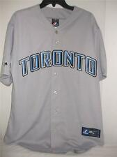 MLB Toronto Blue Jays L 2XL Licensed Grey Road Jersey Majestic NWT