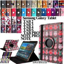 360 Rotating Stand Leather Case Samsung Galaxy Tab 2 3 4 / Tab S / Tab Pro/ Note