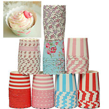 50pcs Heat-resistant Cupcake liners Cake Mould Standing Paper Baking Cups 2.8""
