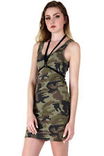Camo TUNIC Camouflage long TANK TOP sleeveless cotton mini dress S M L