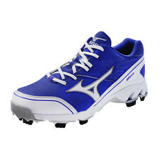Mizuno 9 Spike Blaze Elite 4 Molded Baseball Cleats Royal White New 320420-5200