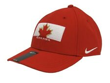 NIKE TEAM CANADA IIHF WOOL CLASSIC RED/WHITE DRI FIT ADJUSTABLE HAT CAP