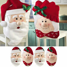 Popular Mr & Mrs Santa Claus Christmas Dining Room Chair Cover Home Party Decor