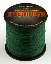 New Dark Green 6-100LB Dyneema Spectra 100M/300M/500M/1000M Fishing Braid Line
