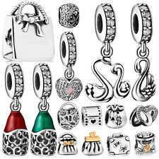 New Handbags Theme Silver charms Bead For UK 925 Sterling Bracelet Free shipping