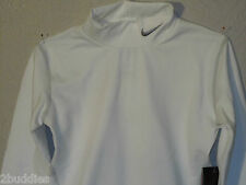 Nike Pro Compression Turtleneck Boys Mock T Stay Warm Shirt 336474 100 S M Nwt