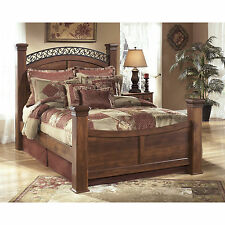Signature Design by Ashley Timberline Warm Brown Poster Bed