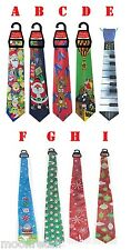 Mens Christmas MUSICAL TIE Fancy Dress Novelty Xmas Office Party Secret Gift Fun