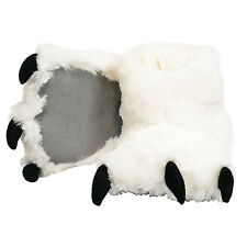 Lazy One White Bear Paw Super Soft Slippers Adult & Kids House Shoes