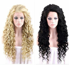Fashion Sexy Ladies Long Black blonde Cosplay Party Curly Wigs+Free Gift