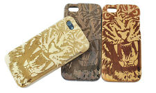 Tiger Head Natural Handmade Wood Case Protective Shell for iPhone 5s 6 Plus 4.7