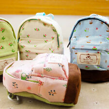 Case Coin Card Backpack Purse Wallet Zipper Bag Pouch Flower Canvas Gift NoIABX