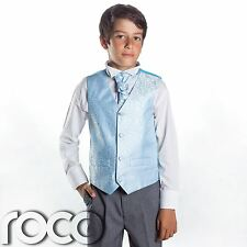 Boys Blue & Grey Suit, Page Boy Suits, Boys Wedding Suits, Boys Suits, Swirl