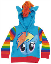 My Little Pony Rainbow Dash Toddler-Juvy Zip Up Costume Hoodie Hooded Sweatshirt