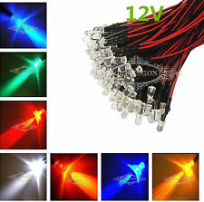 Wholesale 12V DC Pre Wired 3/5/10mm 20CM White/Warm White/Red/Blue/Green/Pink