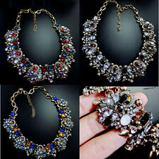 *LUXURY CRYSTAL CHOKER CHUNKY BIB STATEMENT EXAGGERATED COLLAR NECKLACE*