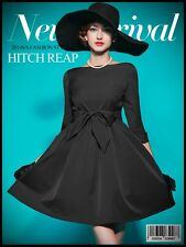 Womens Vintage Audrey Hepburn Swing PARTY Dress 50s plus 1x-10x (SZ16-52) TB213