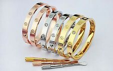 Screw Head Bracelet 18k Gold Plated Bangle Screw Driver For Men Women With CZ