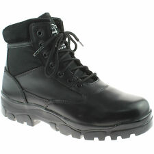 MENS GRAFTERS INSULATED COMBAT BOOTS SIZE 3 - 13 SECURITY BLACK M870A KD