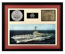 USS Essex CV 9 Framed Navy Ship Display