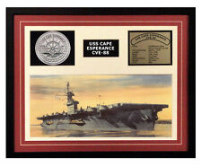 USS Cape Esperance CVE 88 Framed Navy Ship Display