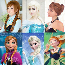 Blonde Brown  Cosplay Wig Hair Princess Weaving Braid Kids Crown Magic Wand
